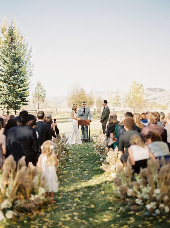 Fall Mountain Wedding Ceremony