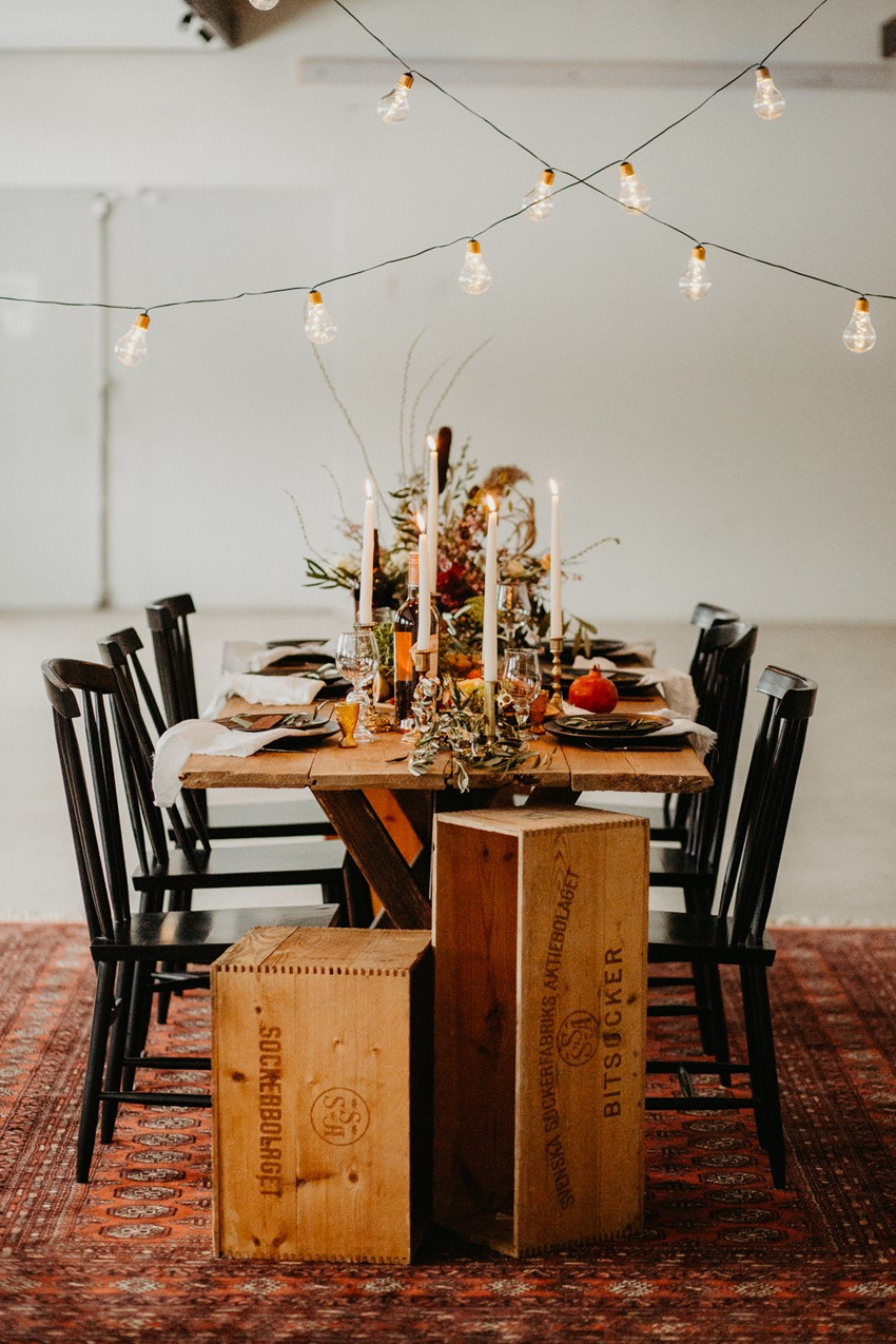 Fall Scandi Wedding Table