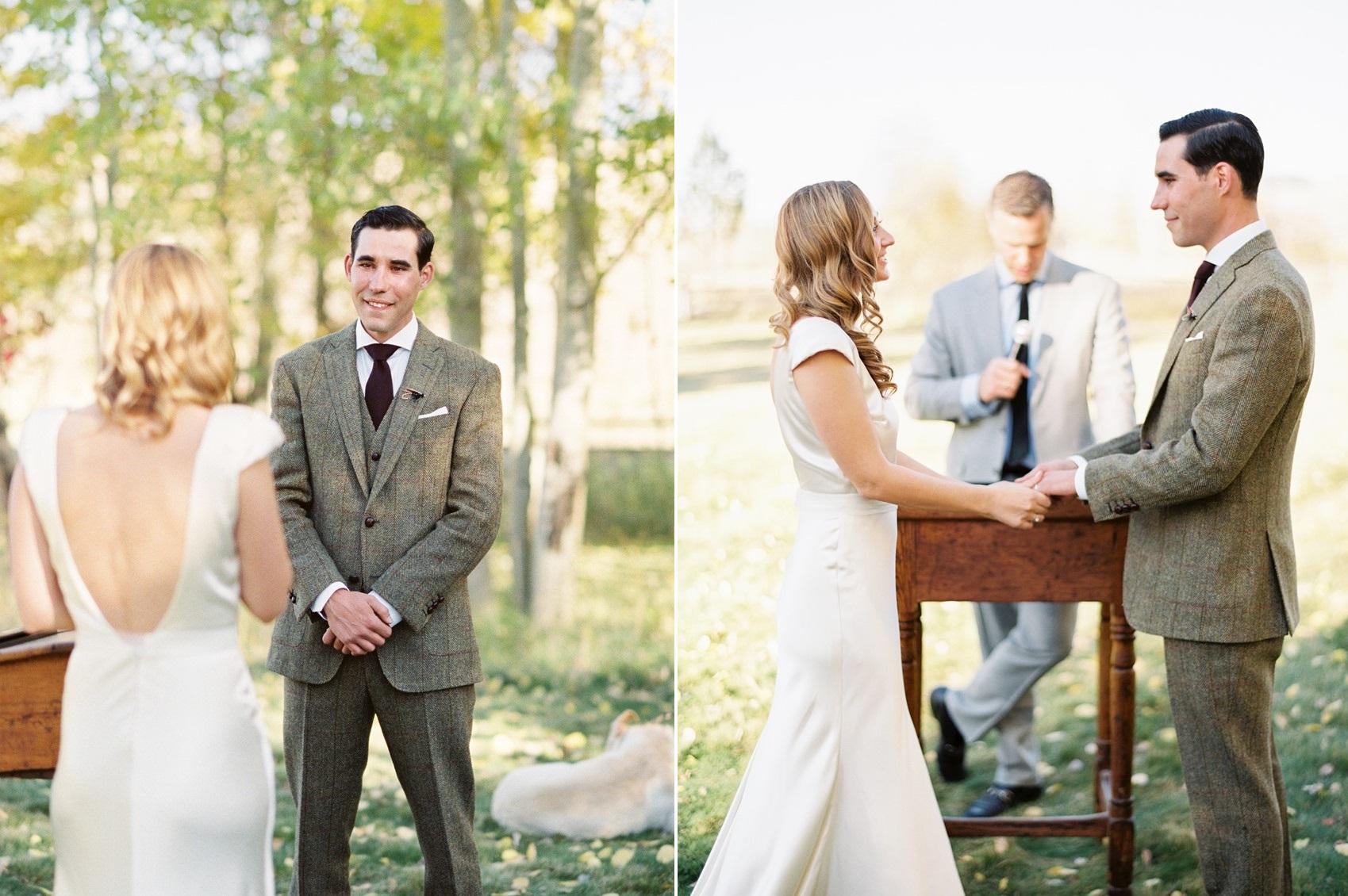 Romantic Mountain Wedding Ceremony