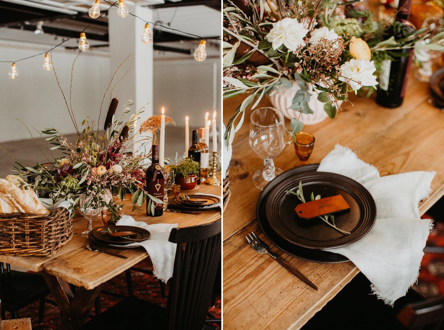 Scandi Fall Wedding Table