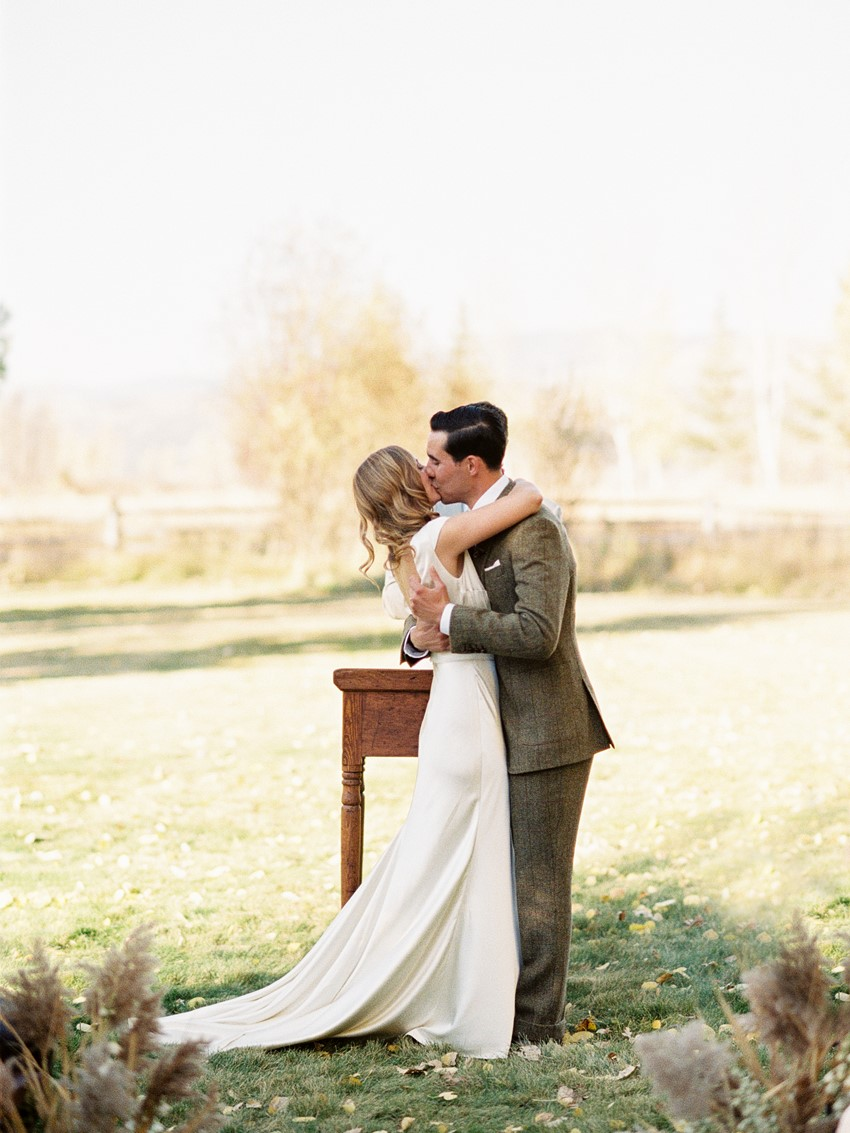 Vintage Inspired Fall Wedding Ceremony