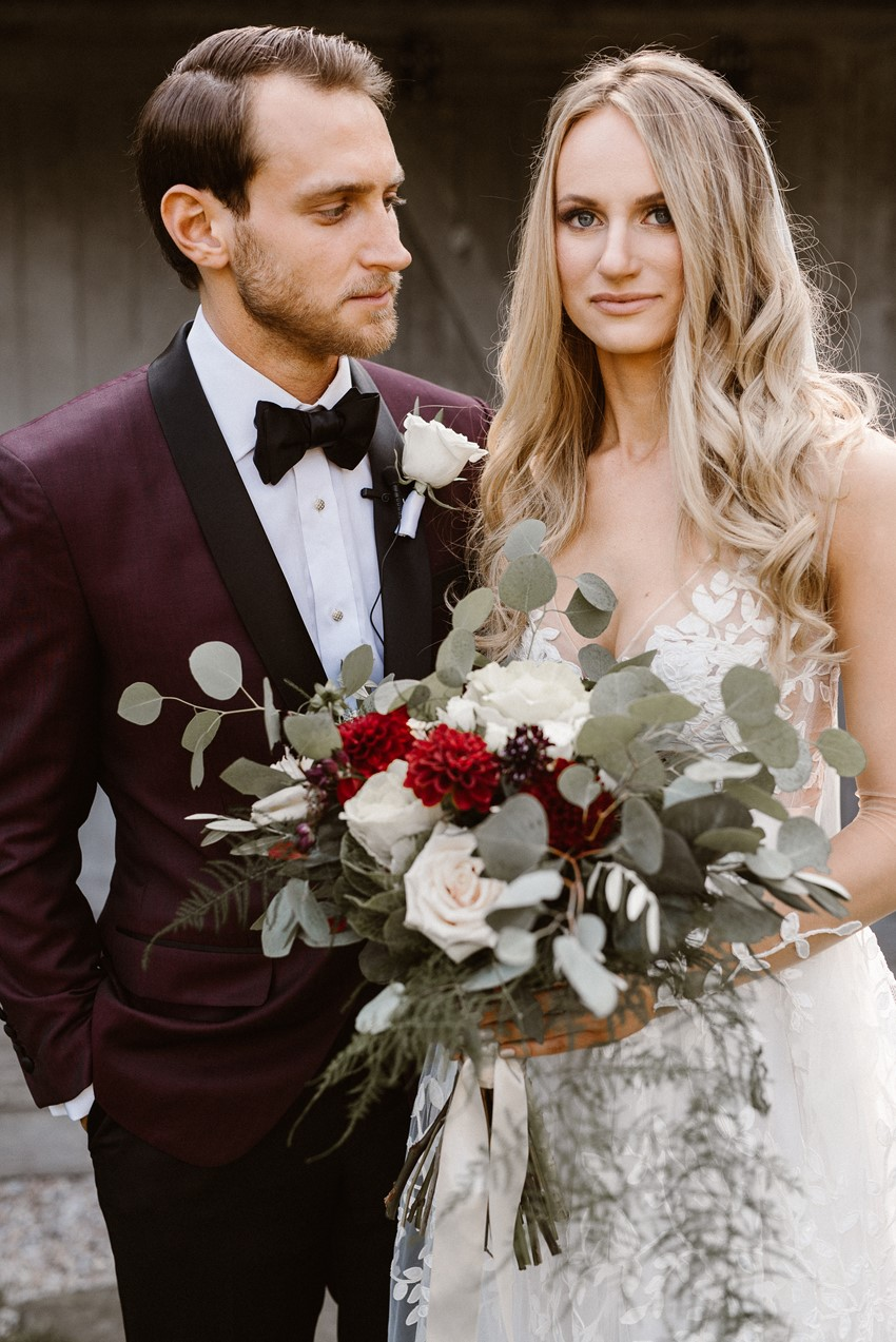 Black Tie Rustic Wedding