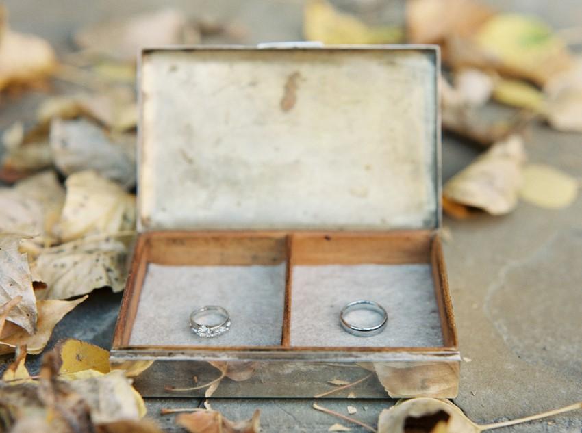 Vintage Wedding Rings Box