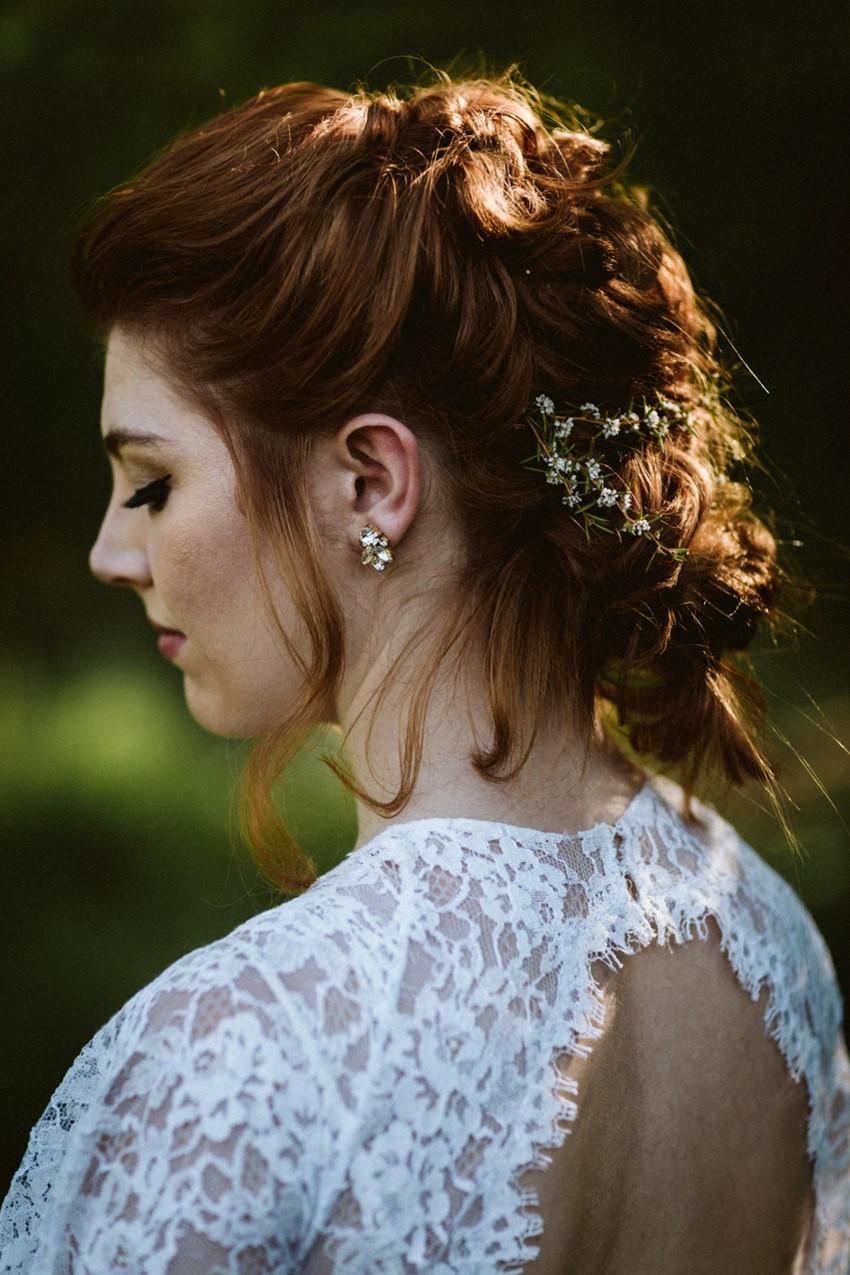 Romantic Rustic Vintage Bridal Updo