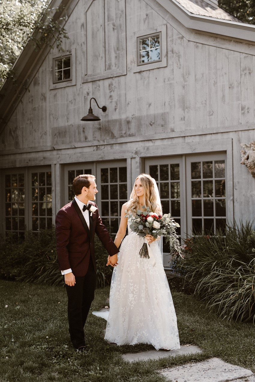 Black Tie Elegant Rustic Wedding