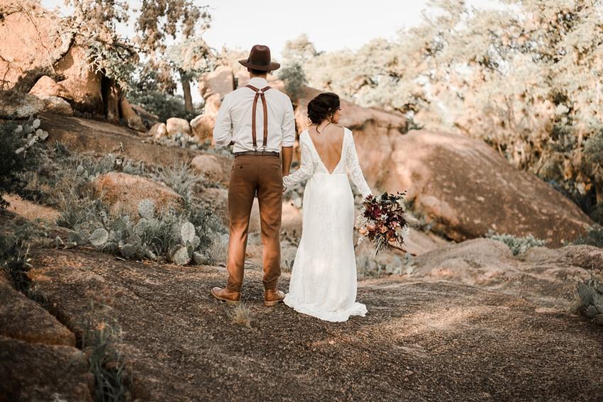 Boho Vintage Fall Desert Wedding