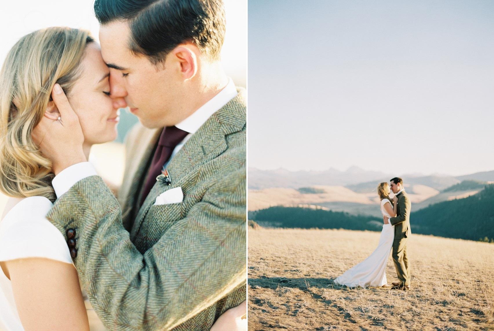 Romantic Fall Montana Wedding