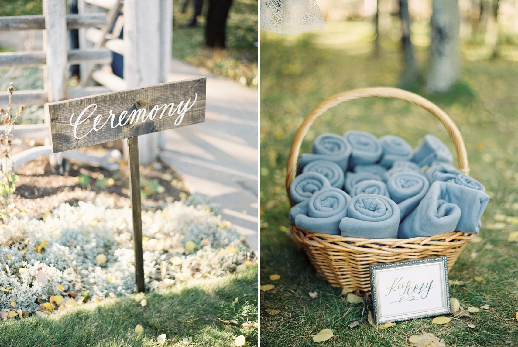 Fall Wedding Ceremony Blankets