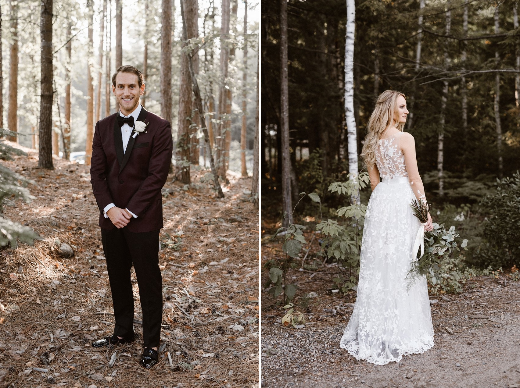 Black Tie Woodland Wedding