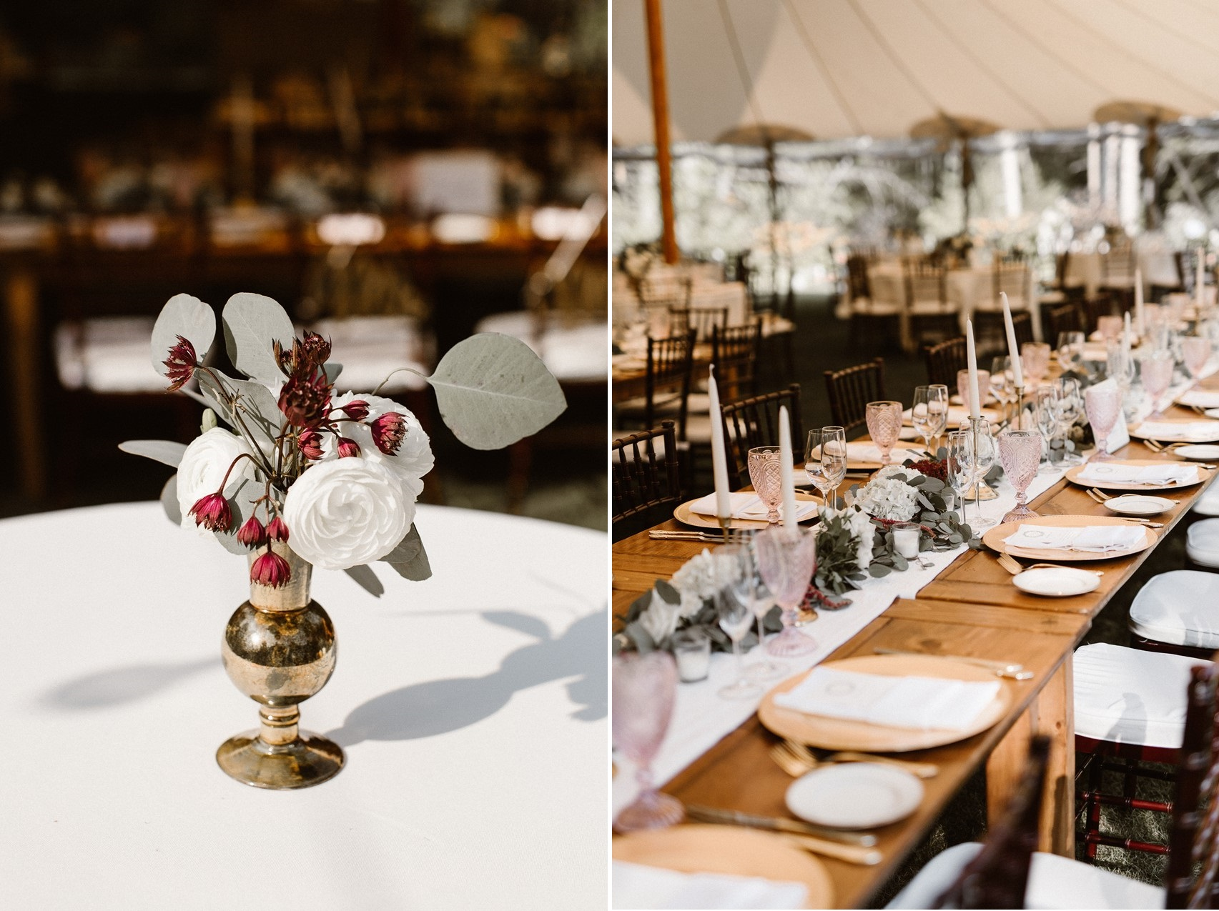 Rustic Elegant Wedding Tables