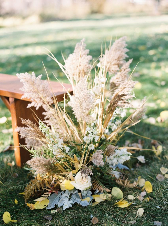 Pampas Grass Wedding Ceremony Decor