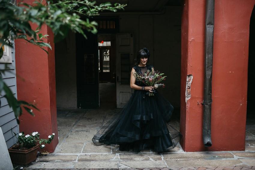 Bride in a Black Wedding Dress
