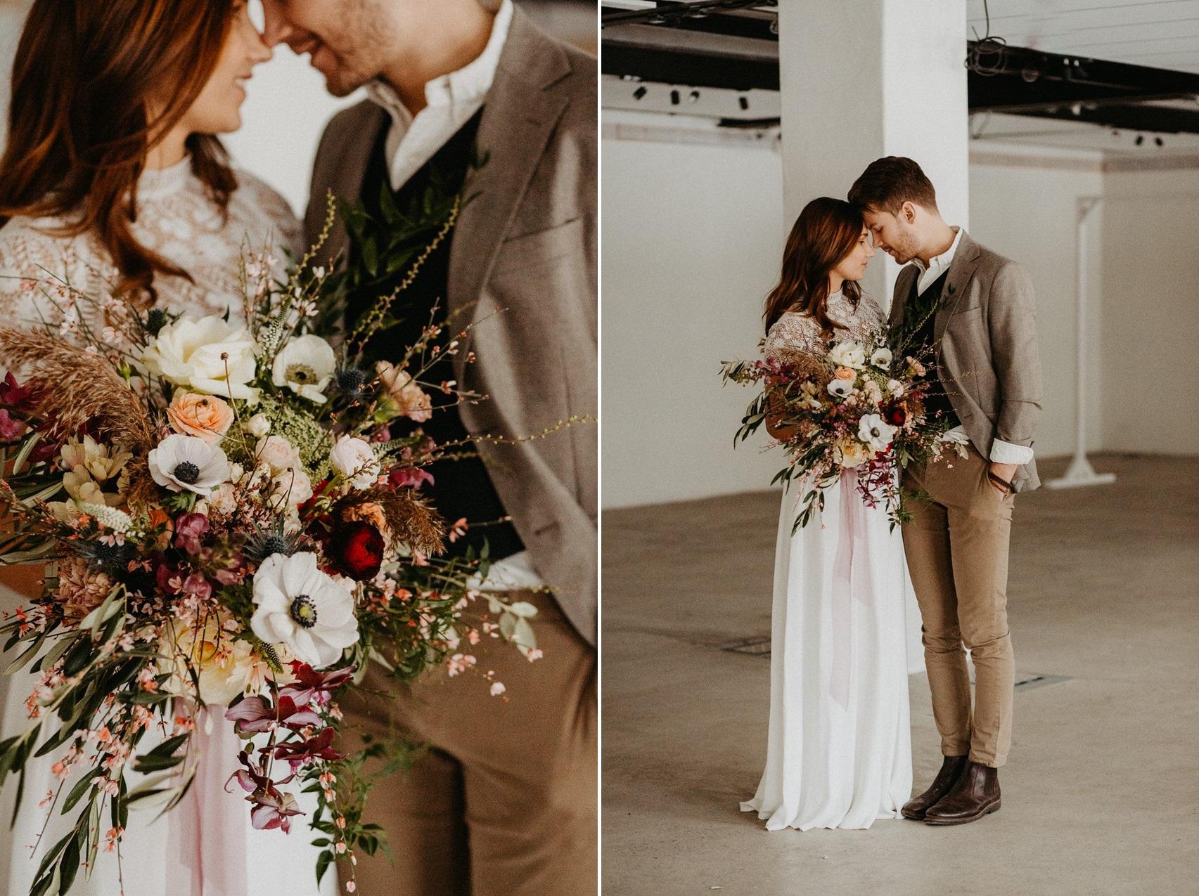 Scandinavian Fall Wedding Bride & Groom