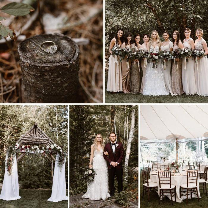 A Woodland Wedding with Black Tie Elegance