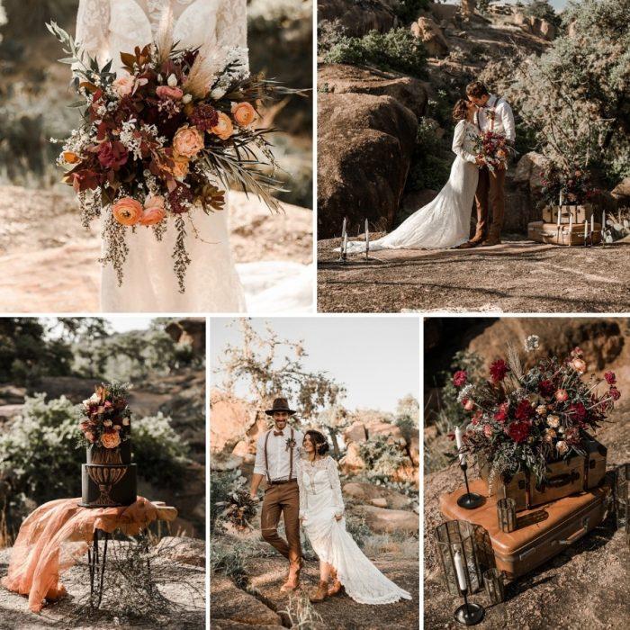 Fall Boho Vintage Elopement Wedding Inspiration