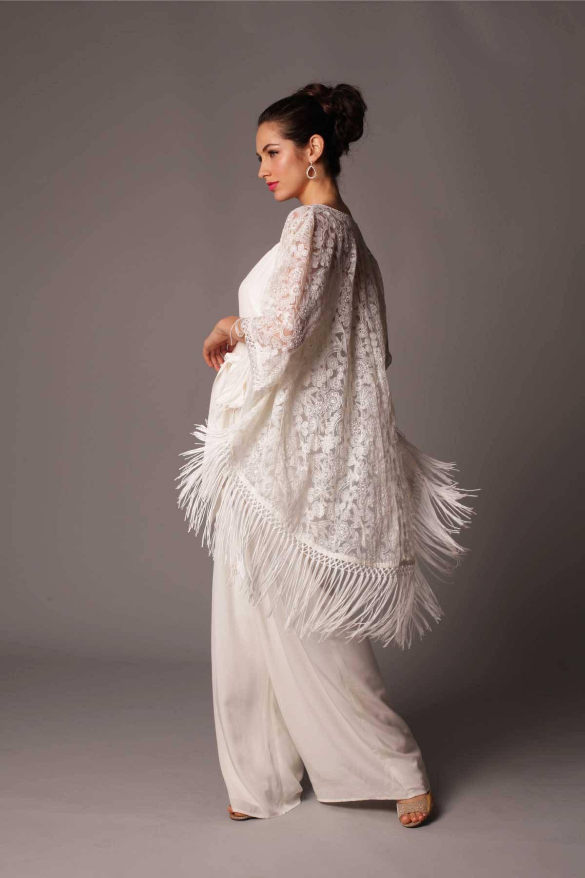 Fringed Bridal Kimono