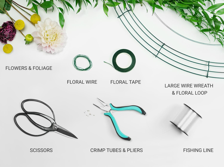 DIY Floral Chandelier Materials