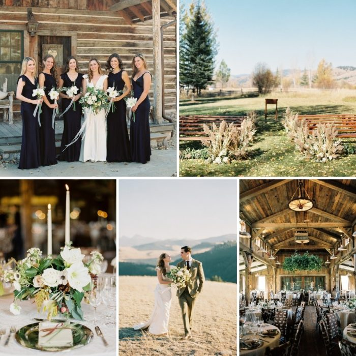 Rustic Modern Vintage Montana Wedding