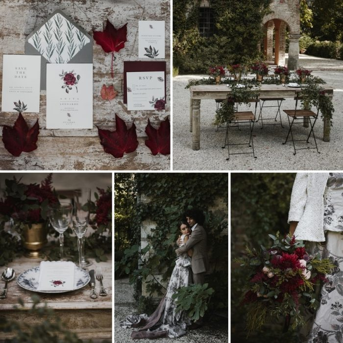 Scarlett & Black Fall Wedding Inspiration