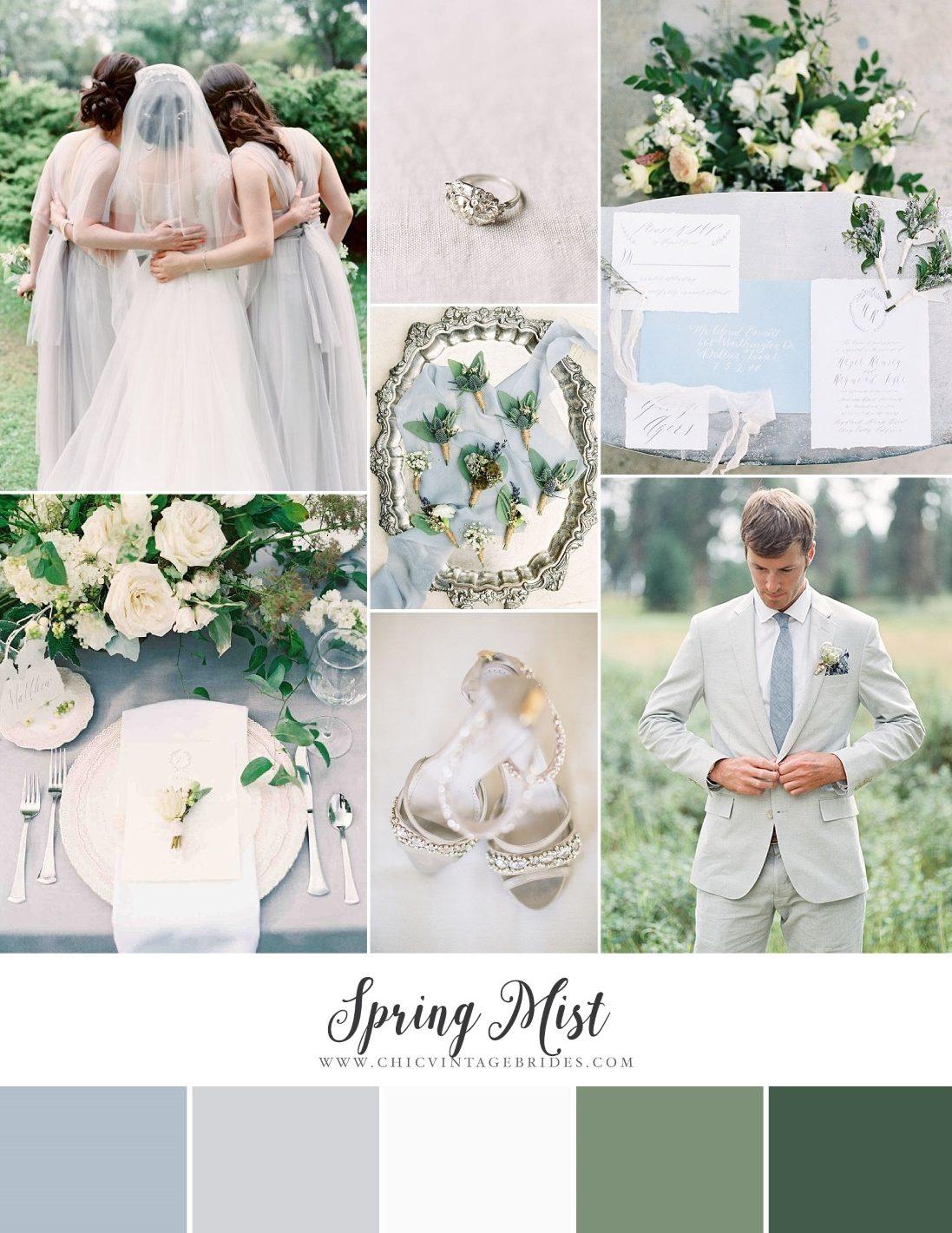 Spring Mist - Dreamy Blue & Grey Wedding Inspiration