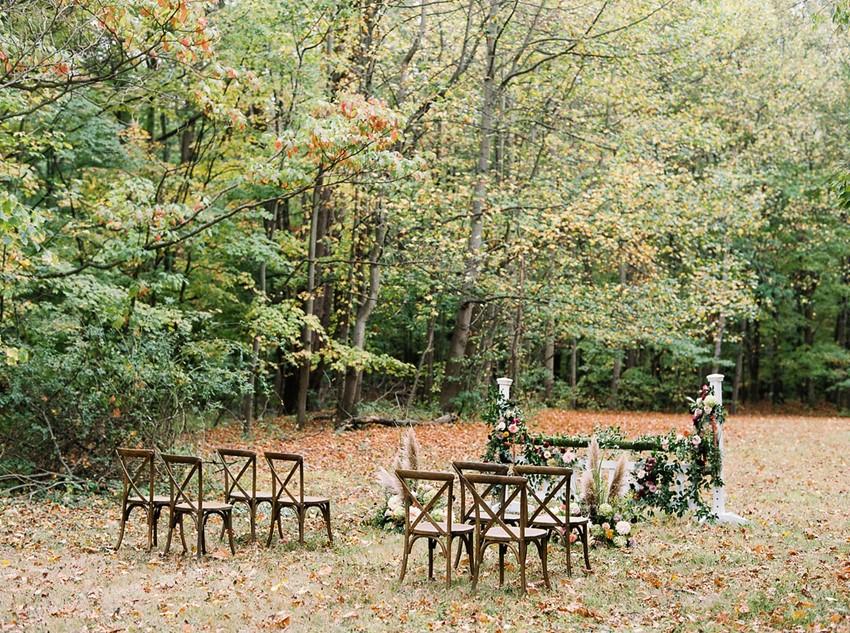 Fall Wedding Ceremony Decor