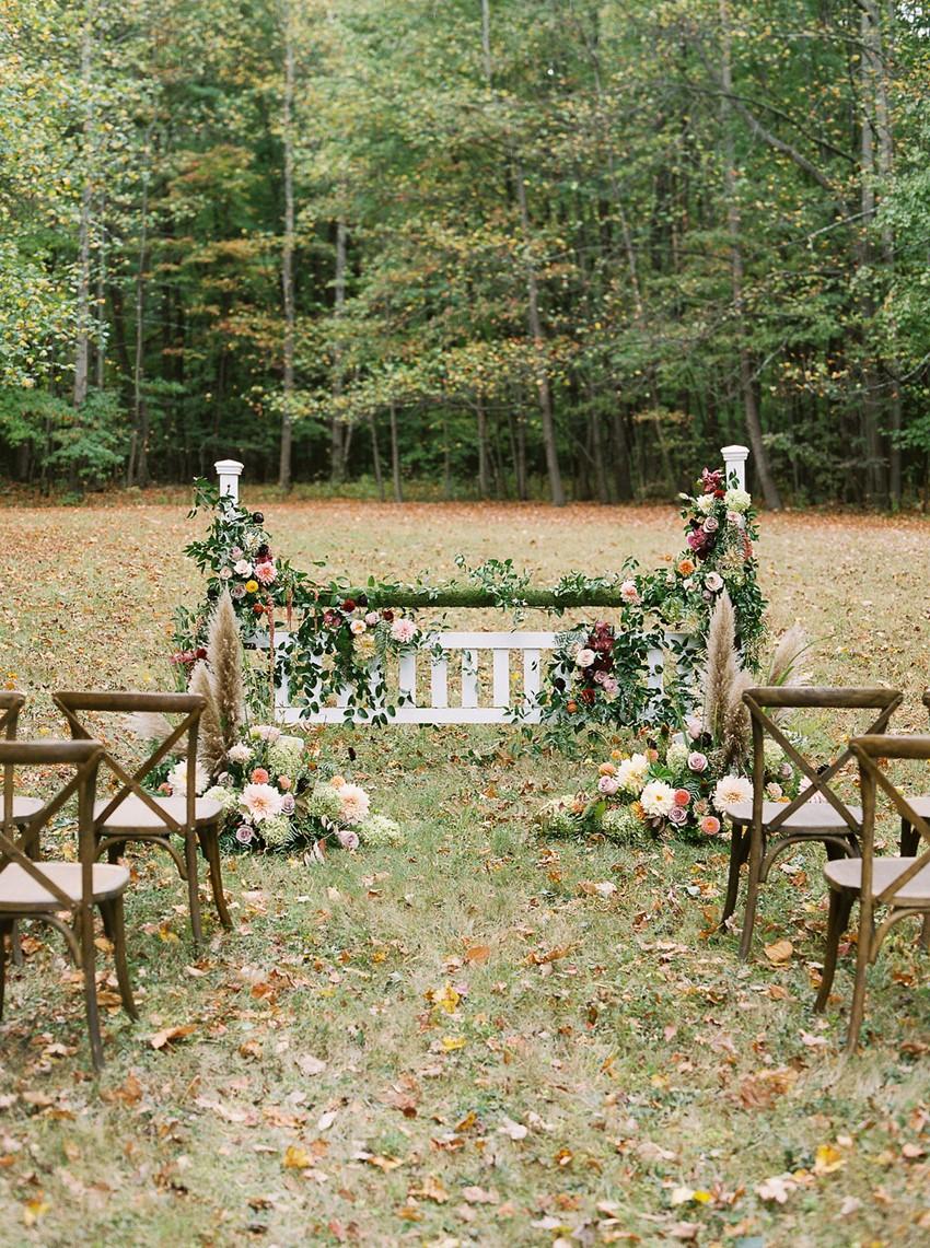 Fall Wedding Equestrian Ceremony Decor