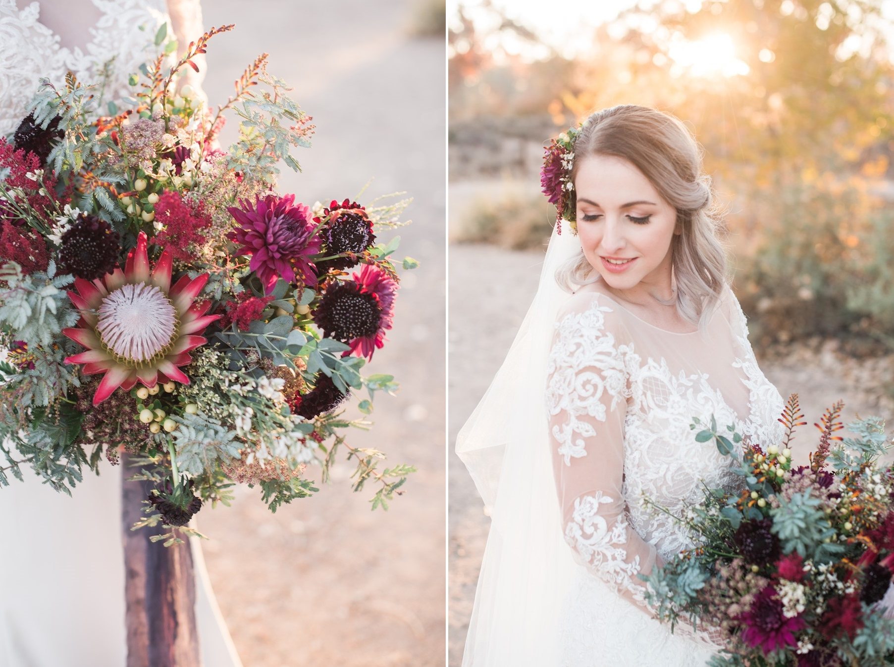 Romantic Protea Bridal Bouquet
