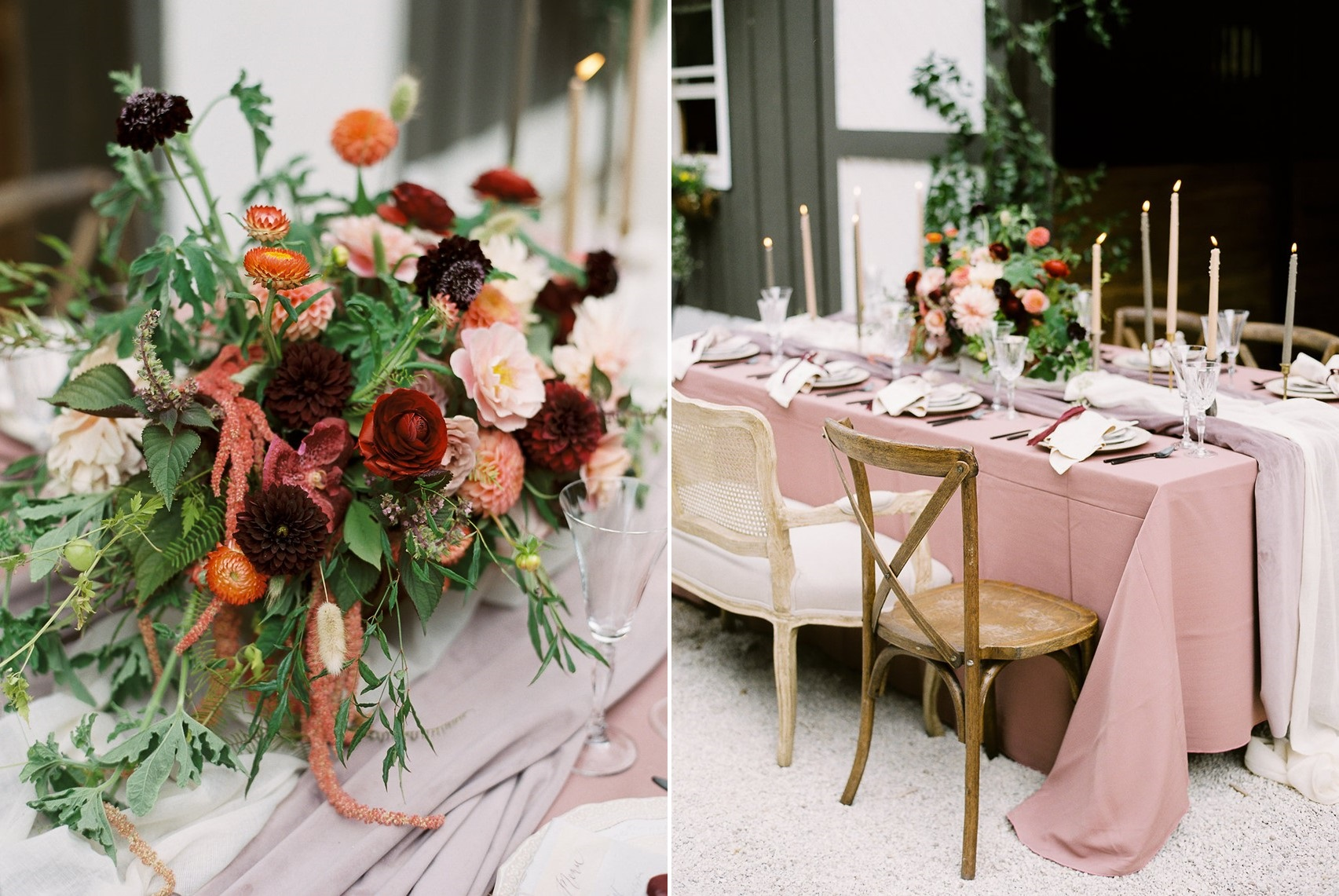 Dusky Pink Wedding Table