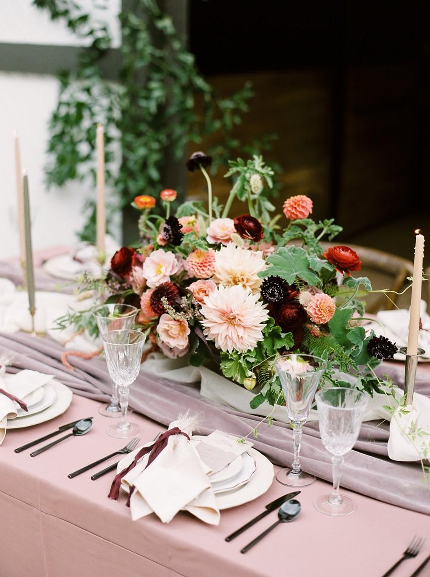Dusky Pink Fall Wedding Table