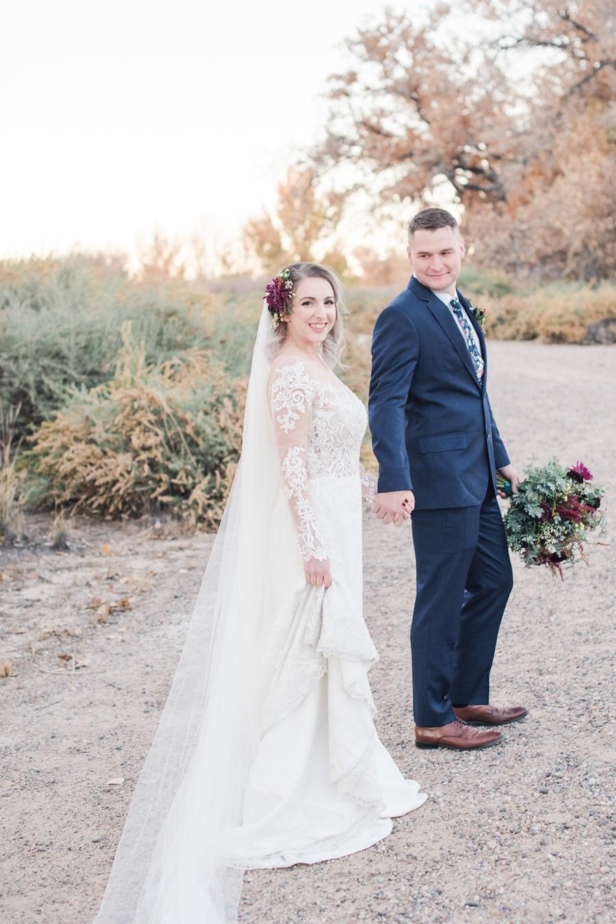 Harvest Wedding Bride & Groom