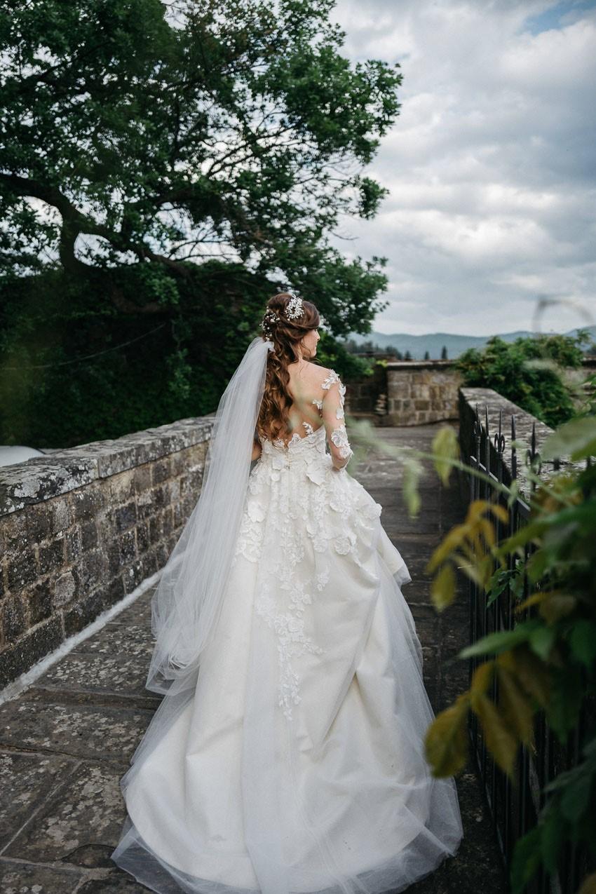 Fairytale Italian Castle Wedding Dress