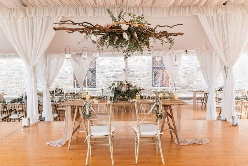 Italian Castle Wedding Reception