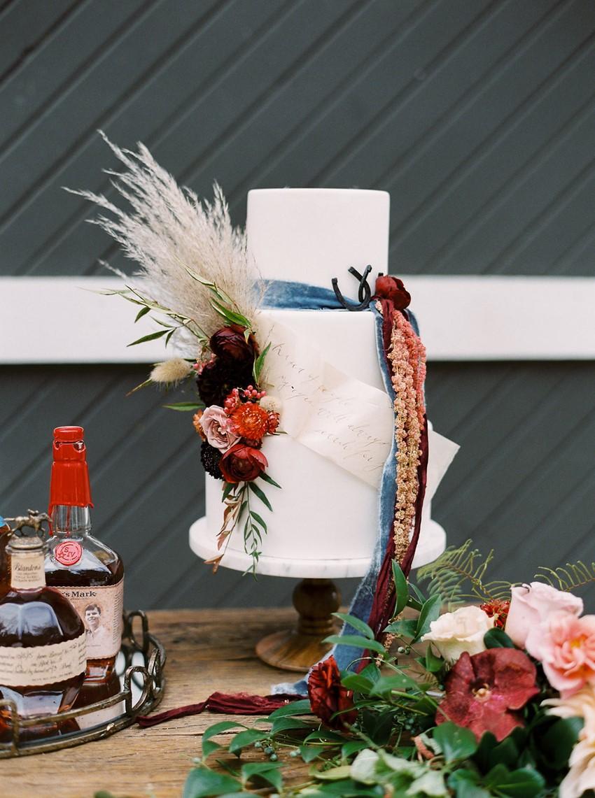 Fall Equestrian Wedding Cake
