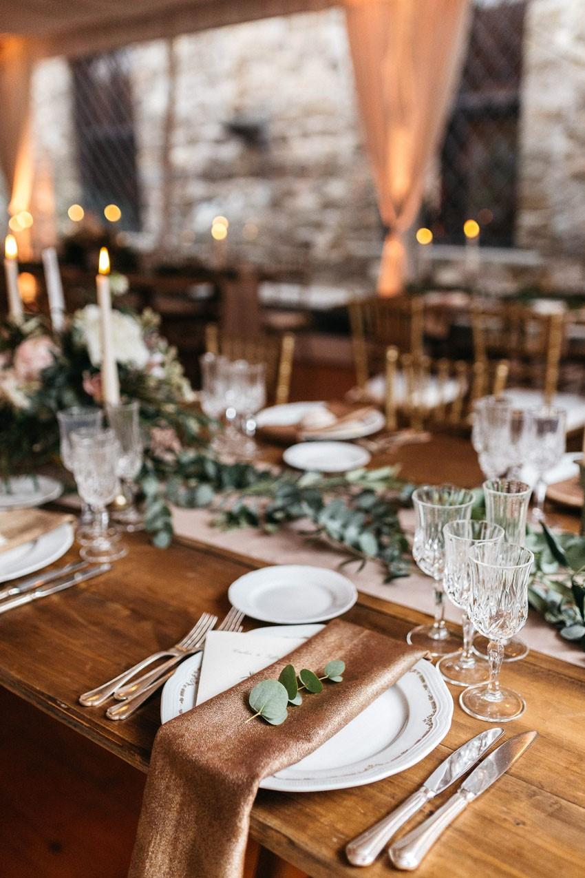 Italian Castle Wedding Place Setting