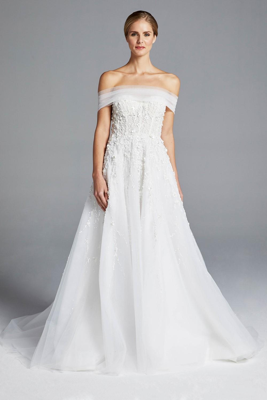 3D Florals Anne Barge Spring 2019 Bridal