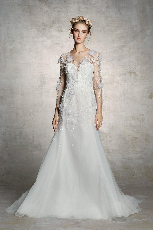 3D Florals Marchesa Bridal Spring 2019