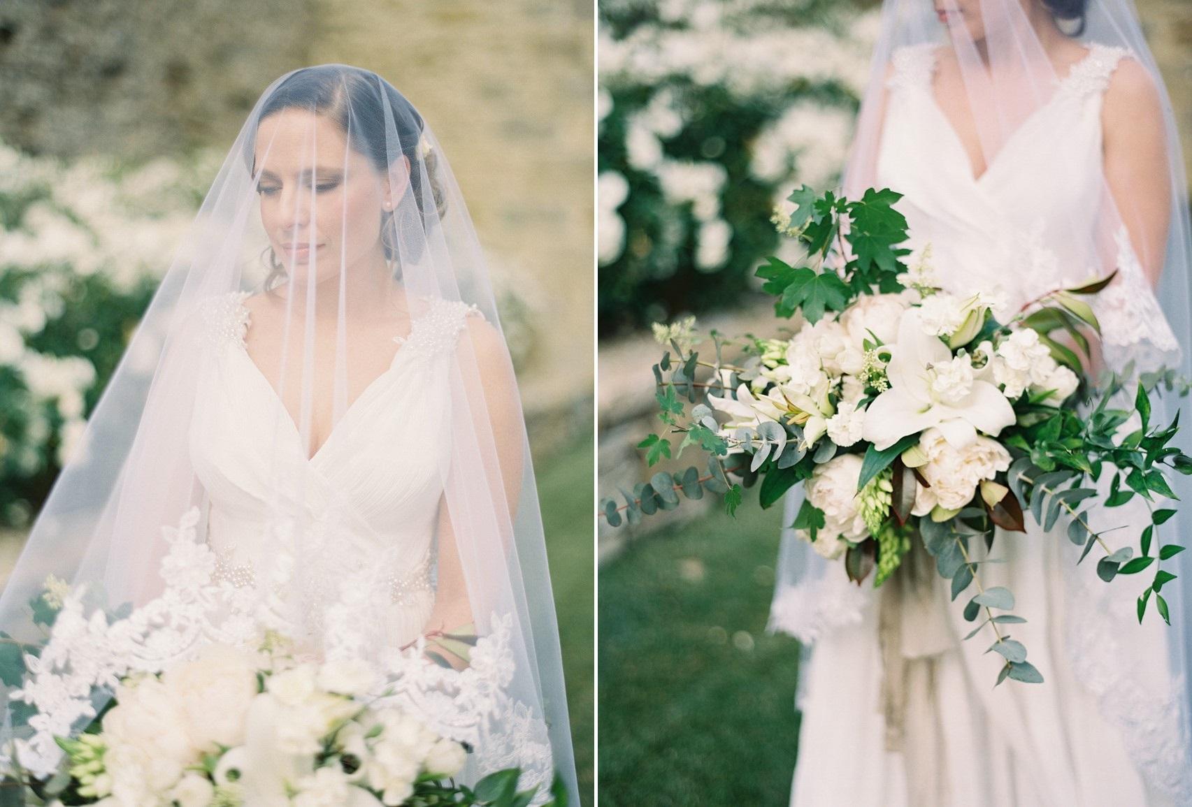 Greenery & White Bridal Bouquet