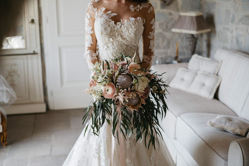 Stunning Protea Bridal Bouquet