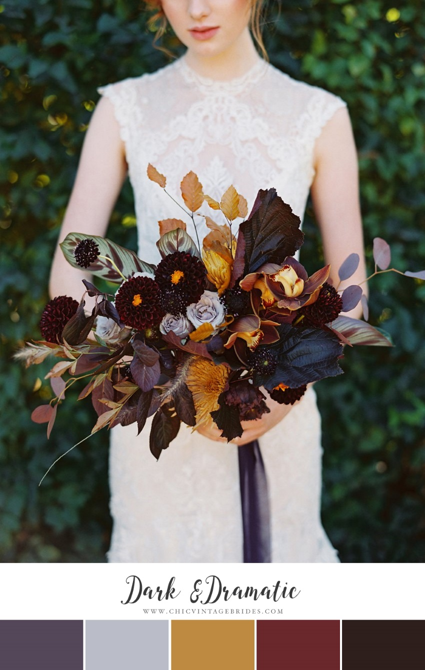 Dark & Different Fall Wedding Colour Palette