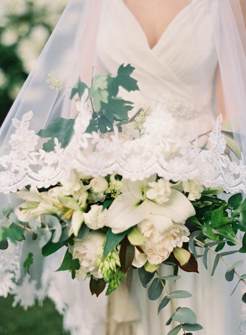 Lush White & Greenery Bridal Bouquet