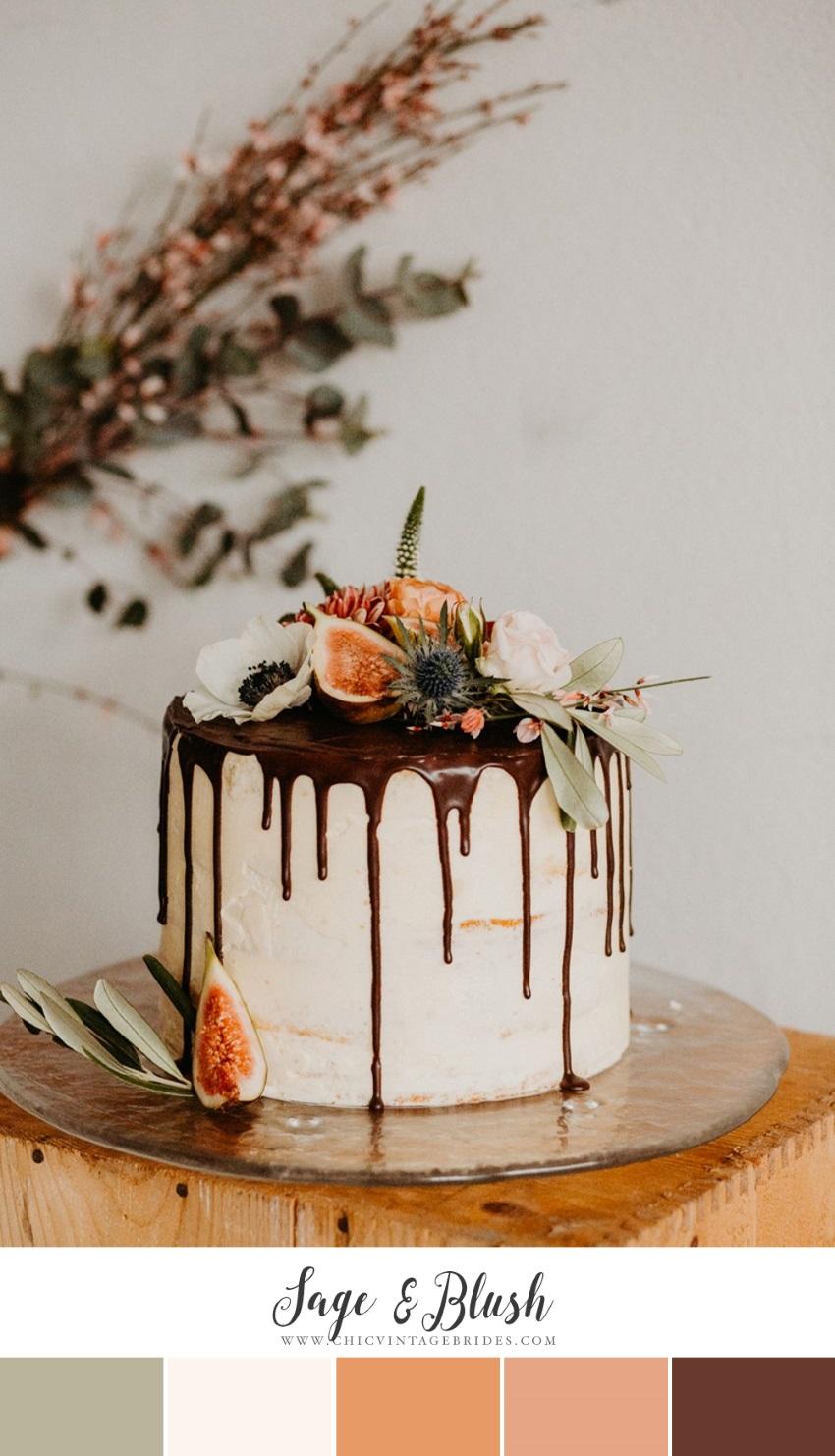 Sage & Blush Fall Wedding Colour Palette