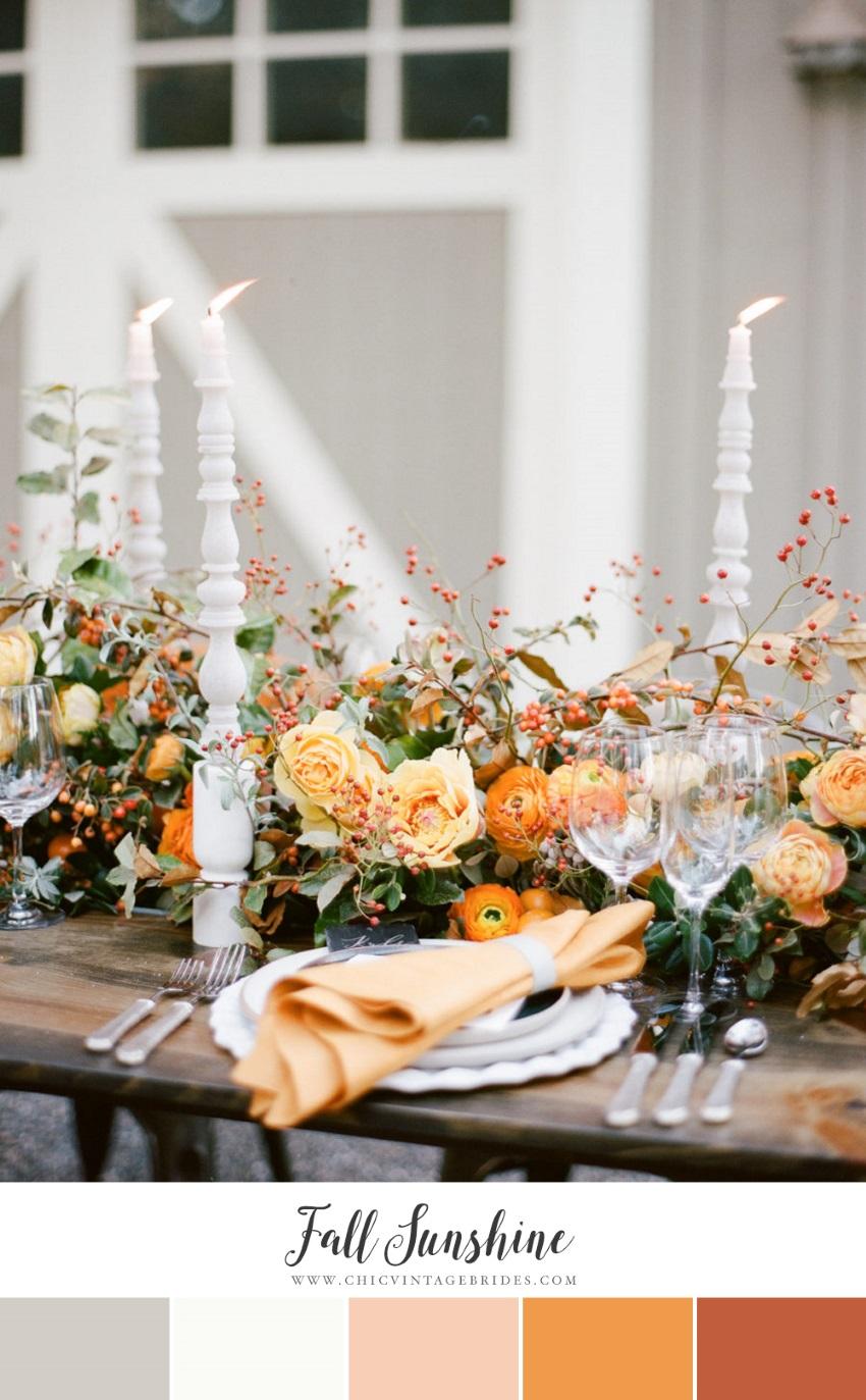 Fall Sunshine Wedding Colour Palette
