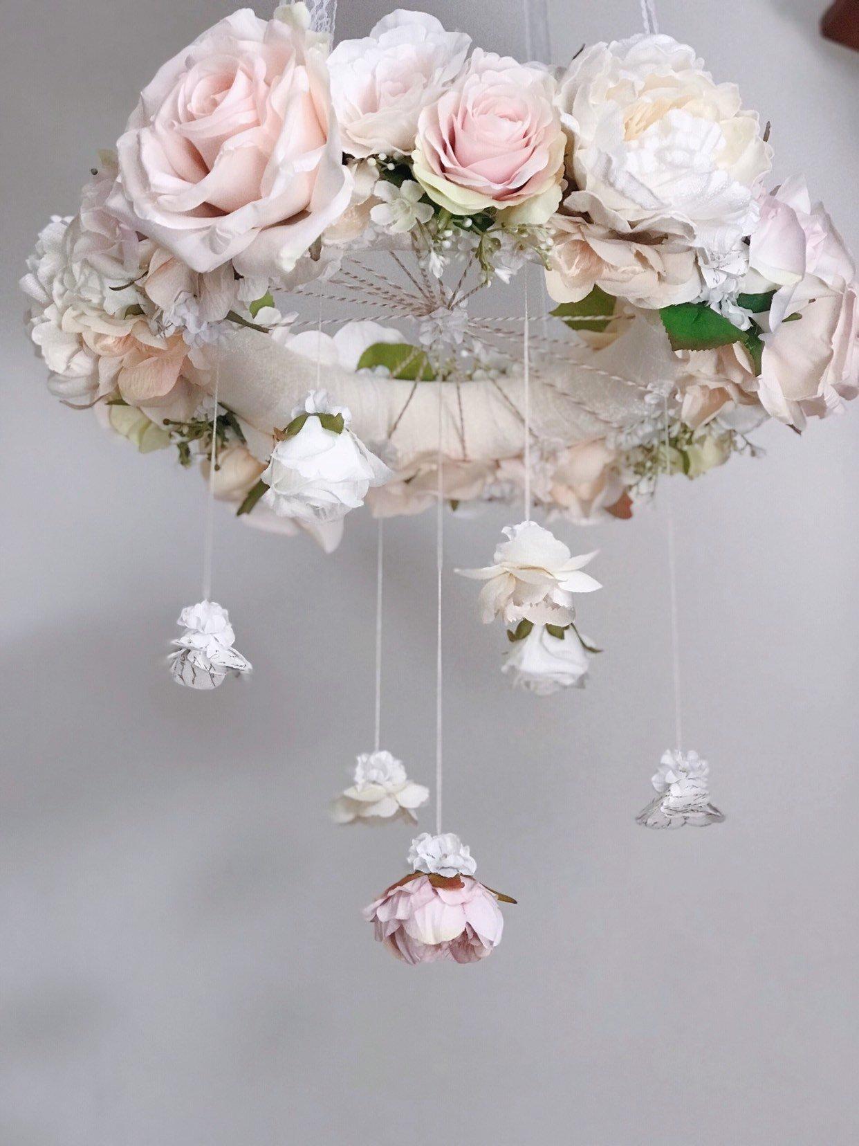 Blush Floral Chandelier