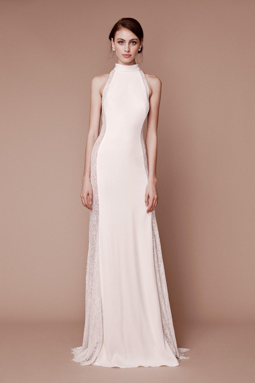 2019 Bridal Trends - Halternecks Tadashi Shoji Fall 2019 Bridal