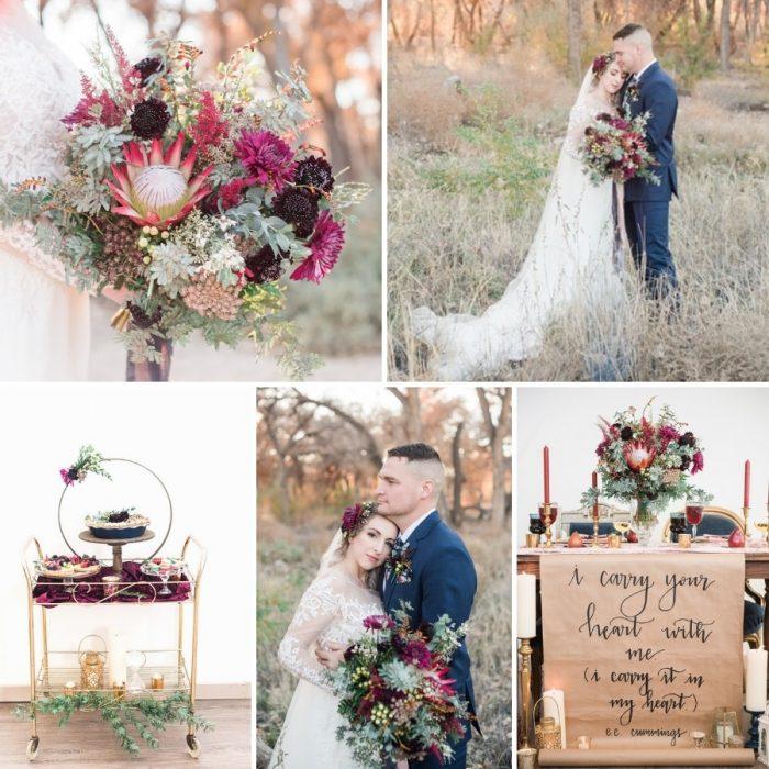 Harvest Wedding Inspiration in Fuchsia Pink