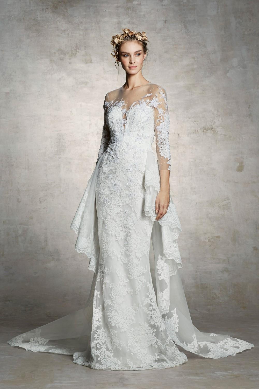 2019 Bridal Trends - Long Sleeves Marchesa