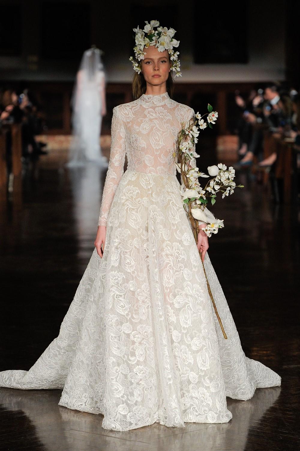 2019 Bridal Trends - Long Sleeves Reem Acra