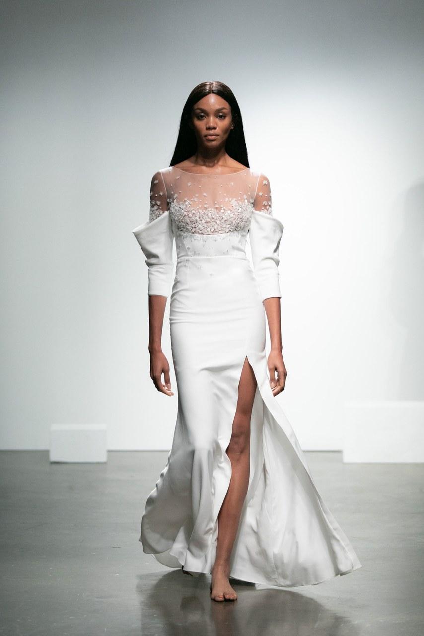 2019 Bridal Trends - Long Sleeves Rime Arodaky Fall 2019