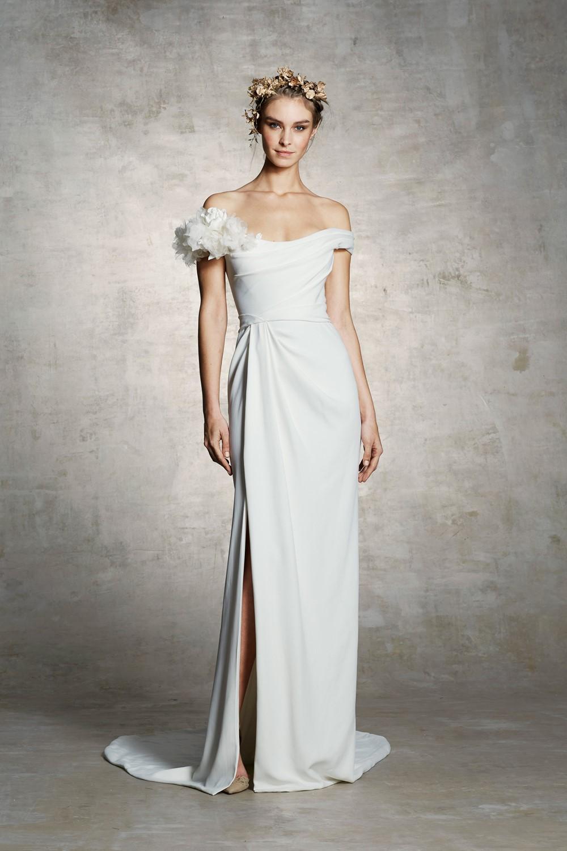 2019 Bridal Trends - Off Shoulder Sleeves Marchesa Bridal Spring 2019