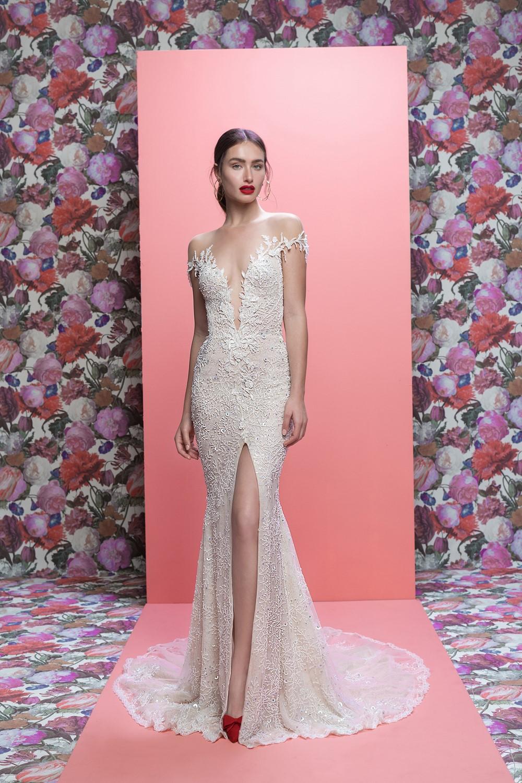 Off Shoulder Sleeves Marleigh Galia Lahav Spring 2019 Bridal